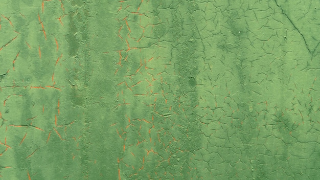 Grunge metallic groene verf muur achtergrond