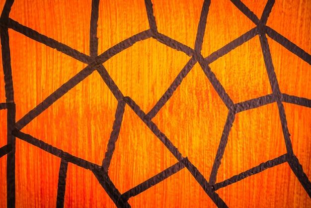 Grunge oranje muur achtergrond