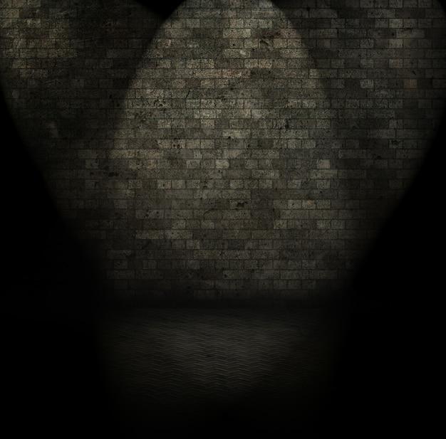 Grunge stijl afbeelding van een donkere kamer interieur