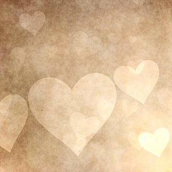 Grunge stijl harten achtergrond voor valentijnsdag