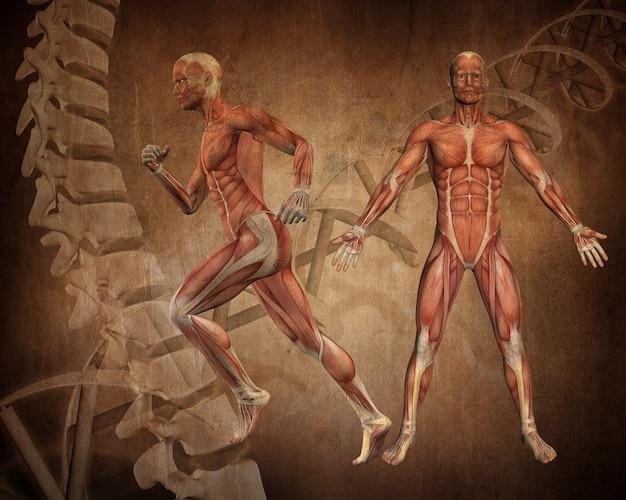 Grunge stijl medische figuur achtergrond