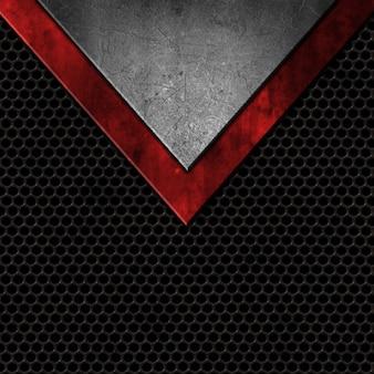 Grunge stijl metalen op een geperforeerde textuur achtergrond