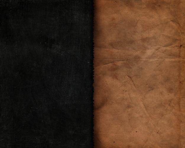 Grunge stijl schoolbord textuur met oud papier