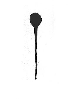 Grunge symbool spuitwand inkt