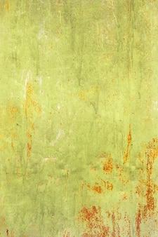 Grunge textuur van groen roestig metaal met krassen