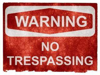 Grunge waarschuwing ondertekenen geen verboden terrein