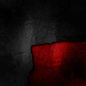 Grunge zwarte achtergrond op een vuile rode textuur