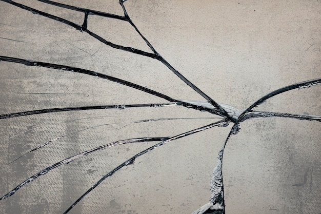Grungeachtergrond met gebarsten glastextuur