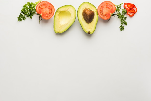 Guacamole-ingrediënten