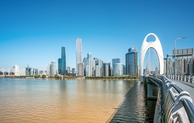 Guangzhou moderne stad architectuur landschap skyline