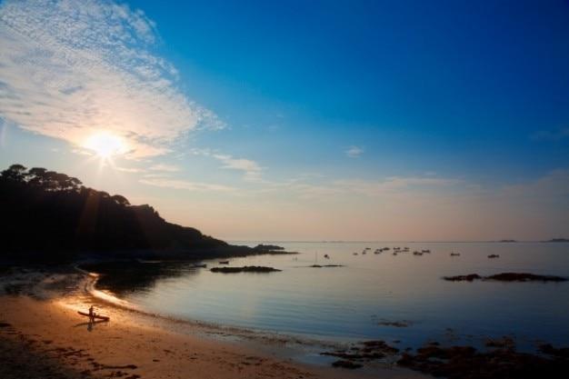 Guernsey zonsondergang hdr