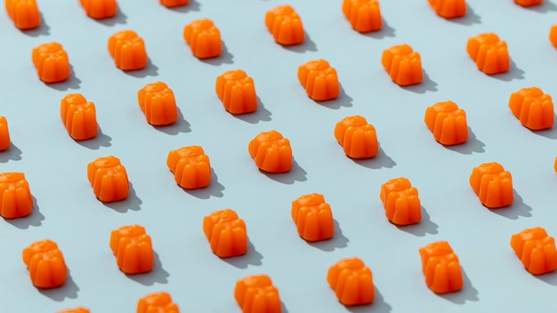 Gummyberen met hoge hoek