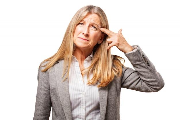 Gun zakenvrouw spanning oude woede
