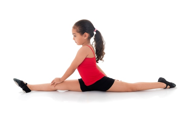 Gymnastiek meisje volledige split