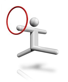 Gymnastiek ritmisch 3d-symbool