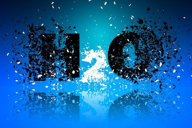 H2o abstracte achtergrond illustratie kunst ontwerpelement