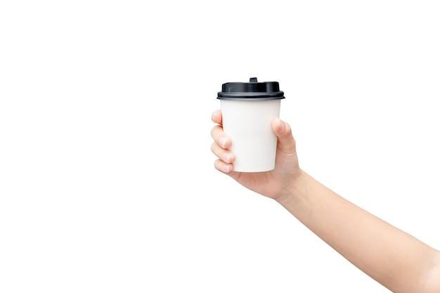 Haal de achtergrond van de koffiekop weg