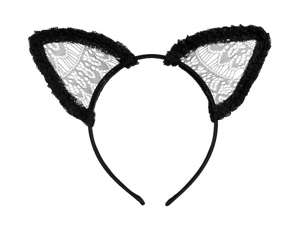 Haarhoepel in vorm van kattenoren op witte achtergrond
