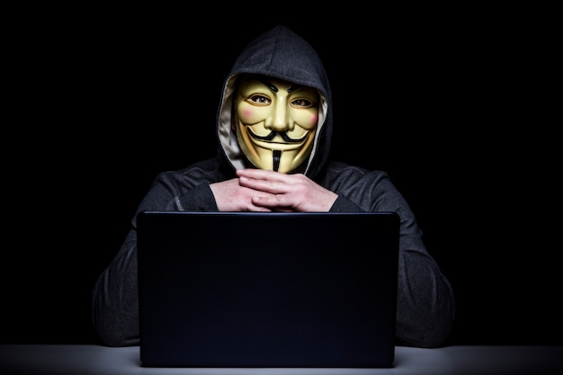 Hacker portret afbeelding