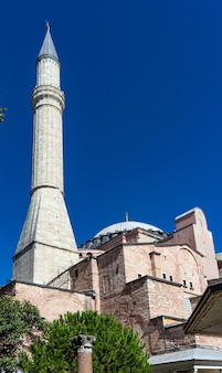 Hagia sophia-moskee in sultanahmet, istanboel, turkije.