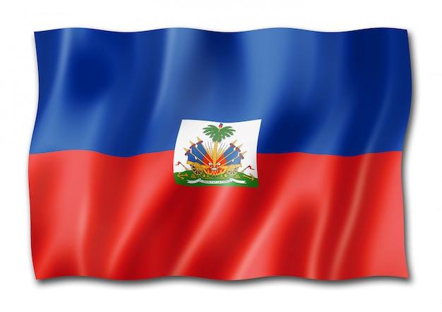 Haïtiaanse vlag geïsoleerd