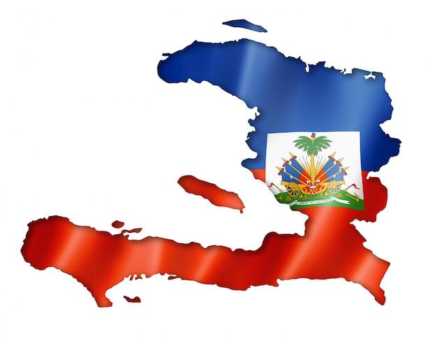 Haïtiaanse vlag kaart