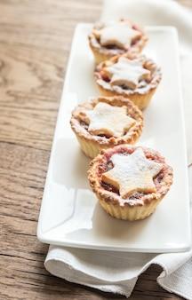 Hak taarten met kerstboomtak fijn