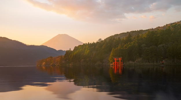 Hakone dat deel uitmaakt van het fuji hakone izu national park