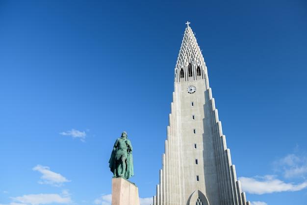 Hallgrímskirkja, lutherse parochiekerk in reykjavík, ijsland