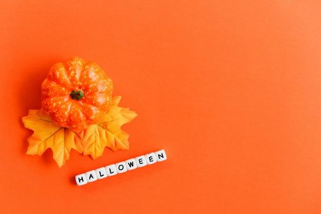 Halloween-achtergrond oranje verfraaide feestelijke vakantie