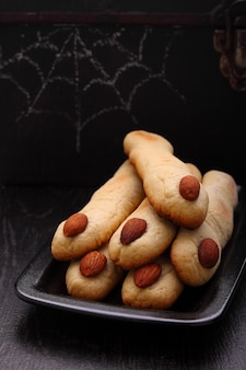 Halloween-de vingerskoekjes van de heks