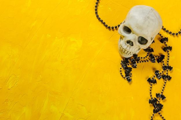 Halloween-decoratie op de lijst