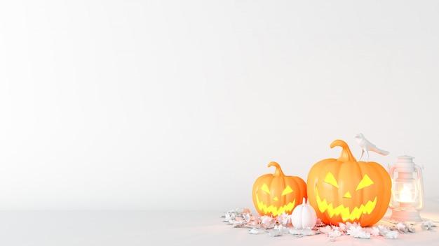 Halloween-decoratieachtergrond met exemplaarruimte
