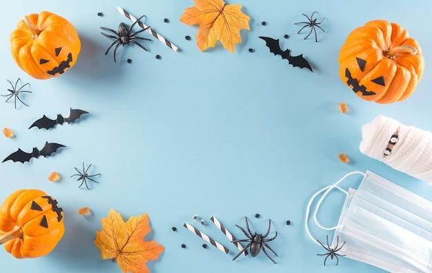 Halloween-decoraties gemaakt van pompoen