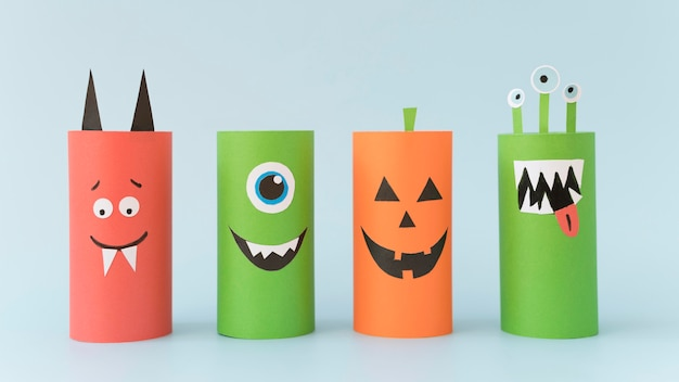 Halloween-decoraties op bureau