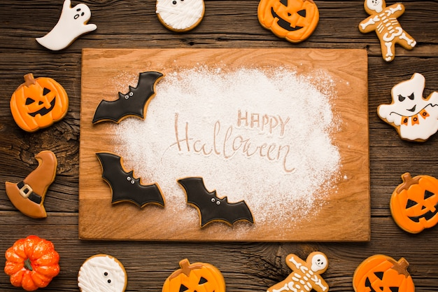 Halloween elementen plat ontwerp