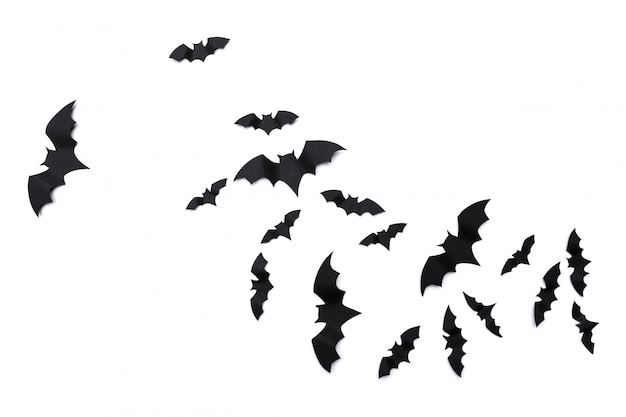 Halloween en decoratiedocument knuppels vliegen