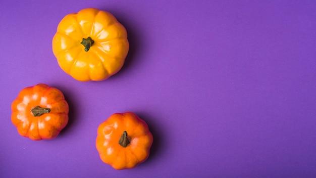 Halloween-gladde pompoenen