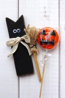 Halloween-kat snoep pompoen