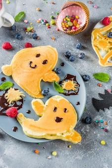 Halloween kids grappige pannenkoeken