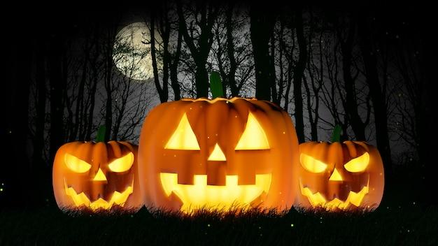 Halloween night full moon