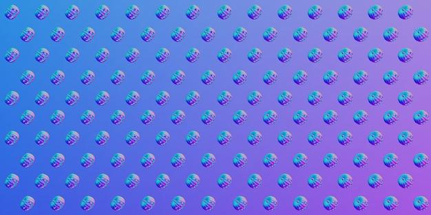 Halloween patroon pompoen patroon 3d-rendering