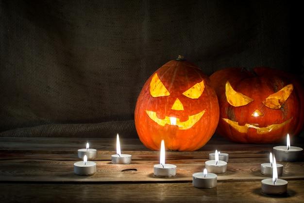Halloween-pompoen horizontaal