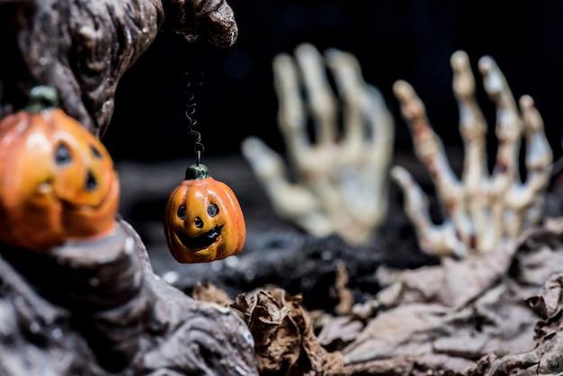 Halloween-pompoen, trick or treat in het herfstseizoen