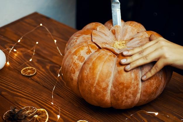 Halloween-pompoen.