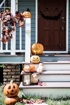 Halloween Decoratie Buiten.Halloween Home Decoration Vectoren Foto S En Psd Bestanden