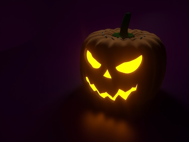 Halloween-pompoenen met een gek gezicht