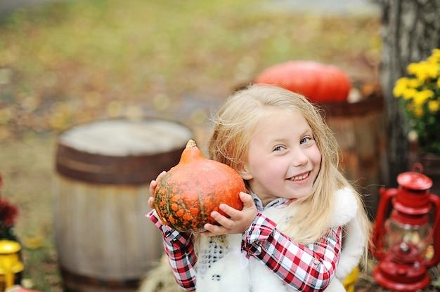 Halloween, thanksgiving, decoratie van het huis en de tuin voor de vakantie.