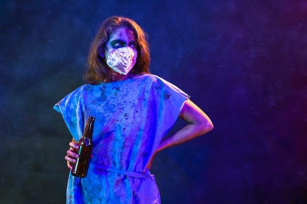 Halloween zombievrouw