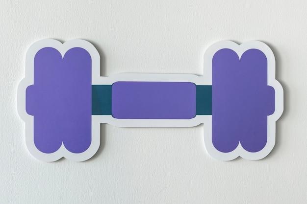 Halter gewicht trainingsapparatuur pictogram